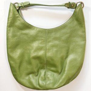 HOBO Leather Avocado Green Sling Bag